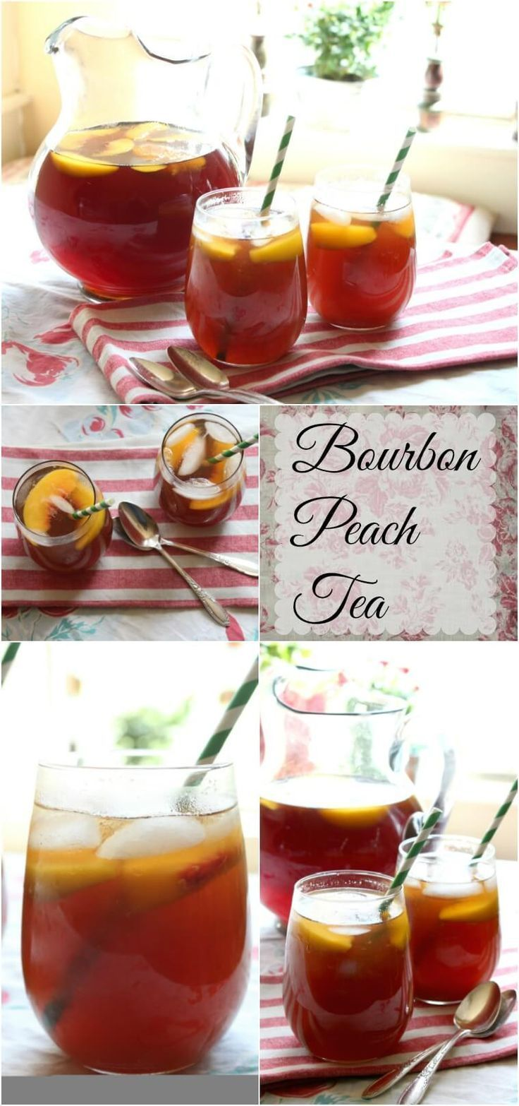 Bourbon peach tea is the perfect sweet, summer cocktail for those hot summer days! From http://RestlessChipotle.com
