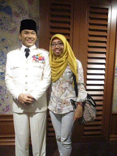 With Mr. Sukarno