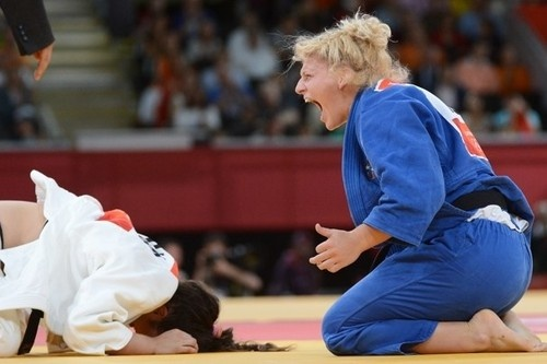 London 2012: Harrison wins gold in judo:Becomes the first American to ever win Olympic judo gold    Kayla Harrison earns first U.S. judo gold  The most accomplished judo fighter the United States has ever produced closed her eyes for a moment and took a deep breath. Once heavy with a lifetime worth of nightmares, Kayla Harrison's broad shoulders rose slightly and then fell.