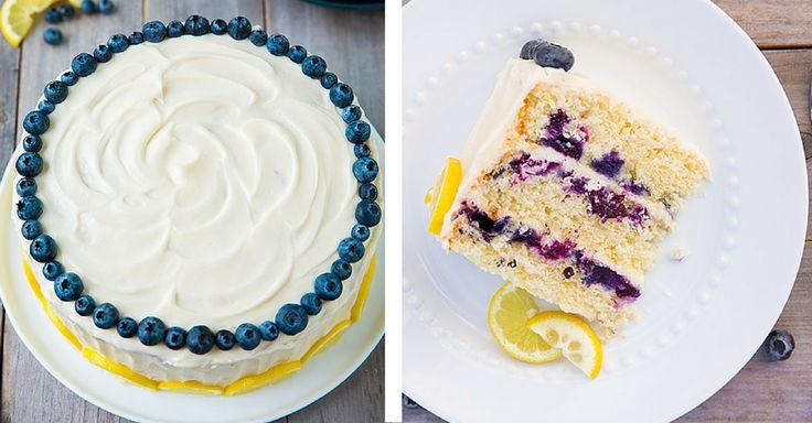 Citrónovo – borůvkový dort s andělsky lehkým krémem