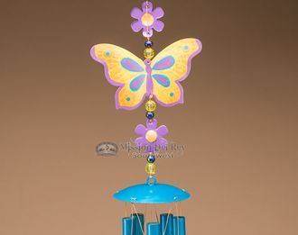 "Southwestern Wind Chime 26"""" -Butter Fly (wc10)"