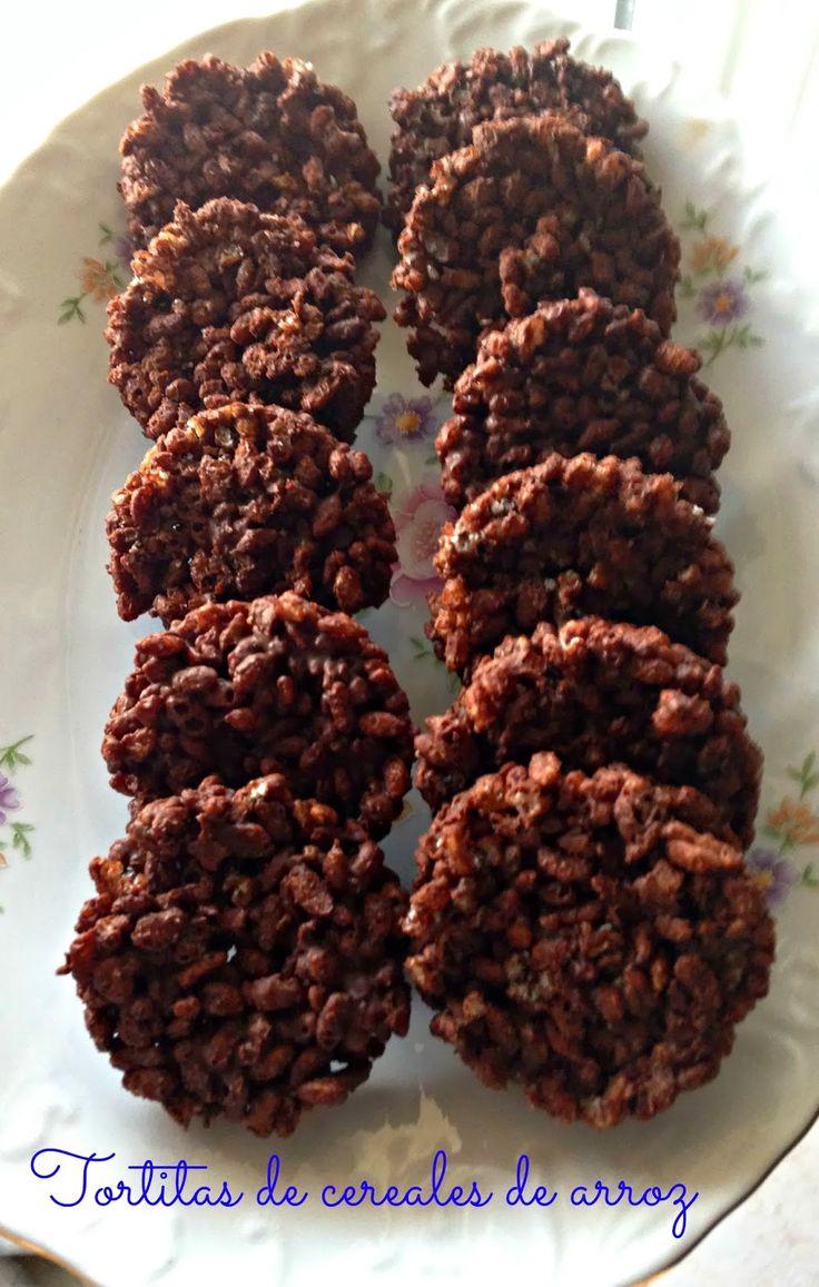 EL TALLER DE LOS DULCES: ♥ Tortitas de cereales de arroz de chocolate