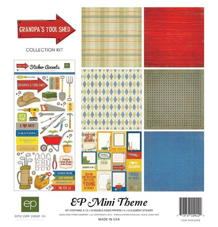 Echo Park Paper Co. - Grandpa's Tool Shed mini collection #chashow #scrapbooking