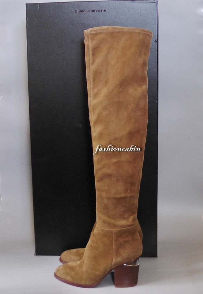b770911e72f New Alexander Wang Gabi Stretch Suede Thigh High Boot Shoes~Dark  Truffle~EU36.5M  AlexanderWang  Boots  CasualDressOutdoorPartyWork