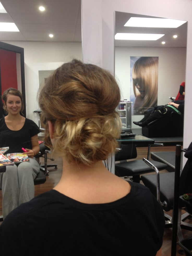 Upstyle /messy bun/ formal hair by AmberD