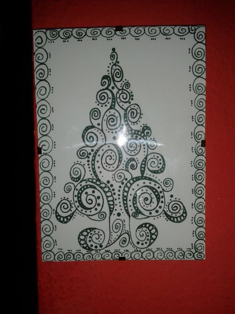 zentangle fenyő