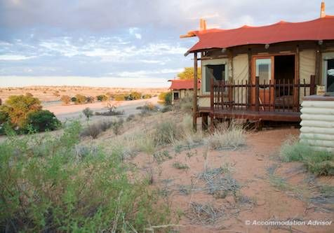 Kalahari Tented camp also has no fence and jackals run around camp at night! There is a plunge pool with refreshingly cool water.