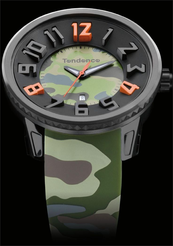 Tendence camoflage dark green cool watches from for Watchismo