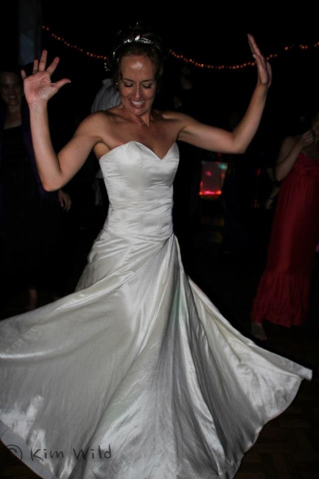 The perfect twirling wedding dress... thanks Jacqui from Mystic Rose for the great design & Hemporium for the hemp silk material :)