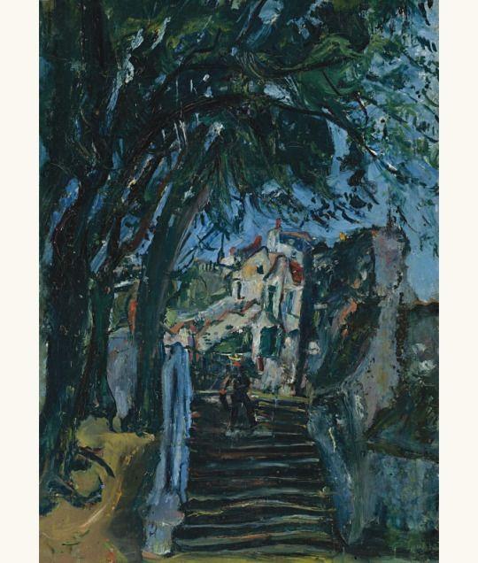 'Les escaliers à Chartres', c. 1933 - Chaïm Soutine (1893–1943)