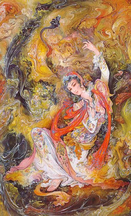 Persian p-spirits-beckoning-1978-Paintings Of Master Mahmoud Farshchian