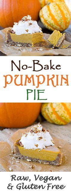 Raw Vegan Pumpkin Pie, healthy, and gluten free!                                                                                                                                                                                 More