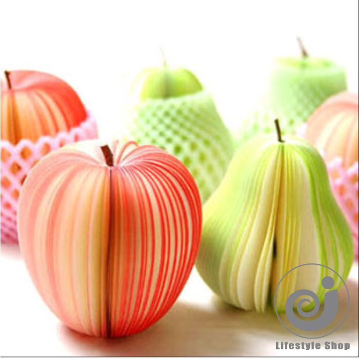 Творческий фрукты apple memo pad блокнот наклейки papelaria материал эсколар канцелярские школьные принадлежностикупить в магазине Lifestyle Go StoreнаAliExpress