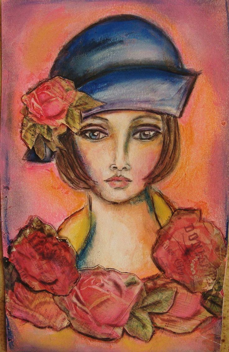 art journal faces - Buscar con Google