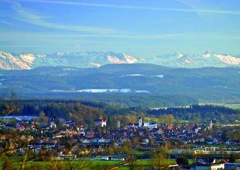 Leutkirch im Allgäu, the town where I was born and grew up. I miss the view!!