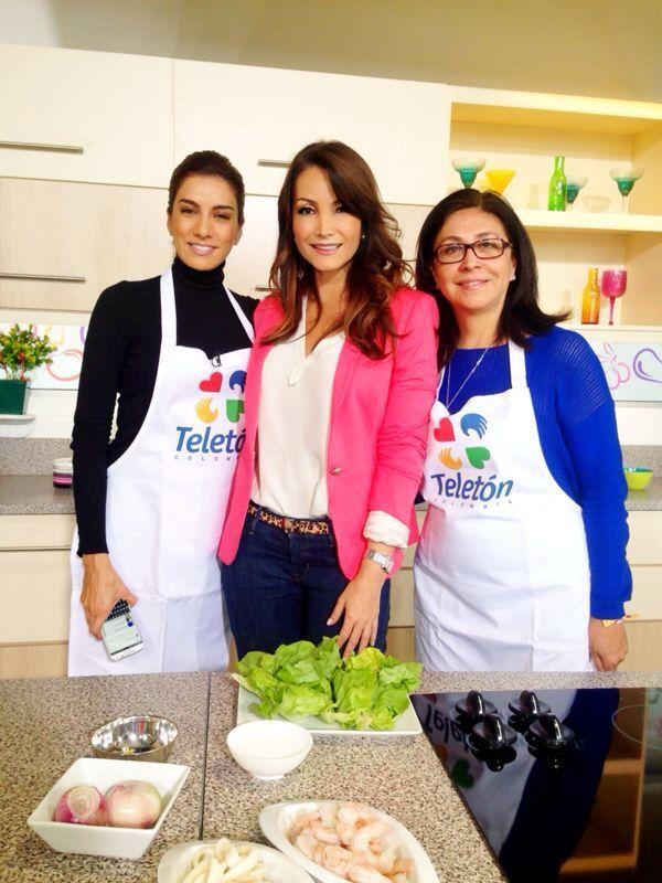 Con Emilia Ruiz Presidenta de la Fundación Teletón y Andrea Serna.