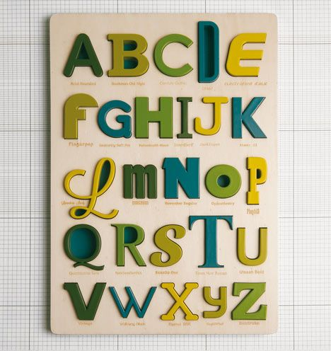 Milan company Looodus has designed a toy that allows children to learn about typography and the alphabet at the same time.