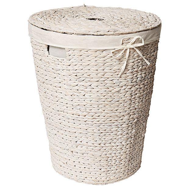 Hyacinth Laundry Hamper - White Wash