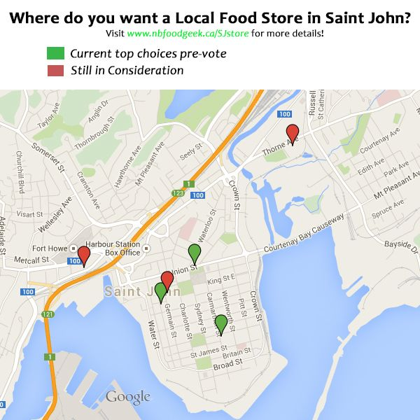 Do you live in Saint John?  Do you want a local food store? We want to connect fresh local produce, sustainably grown meats, over 50 kinds of raw and pasteurized cheeses, gourmet value added produc...