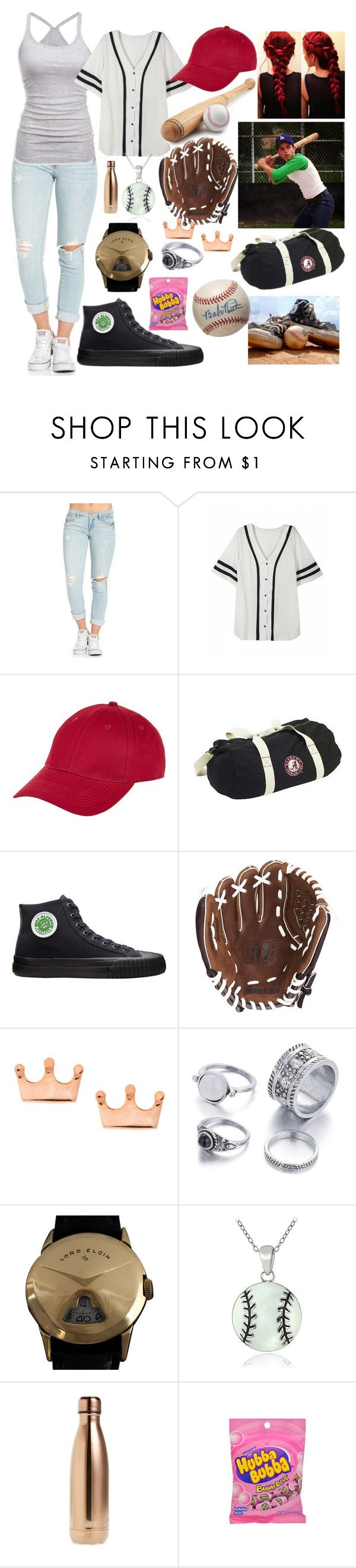 """""""meeting benny rodriguez (sandlot)"""" by alaskan-bush-people ❤ liked on Polyvore featuring American Eagle Outfitters, New Look, PF Flyers, Franklin, Elgin, Mondevio and S'well"""