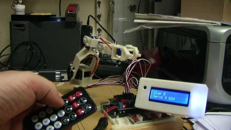 Arduino program for servodriven robots