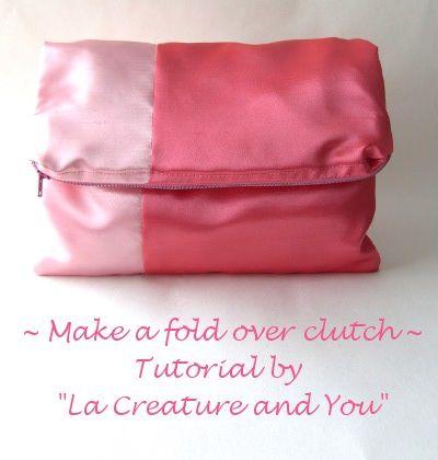Make a colour block fold over clutch – DIY tutorial Love the bicolor