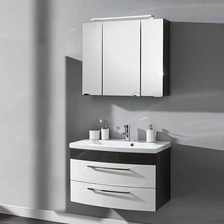 Möbelset Für Badezimmer Anthrazit Weiß Hochglanz (2 Teilig) Jetzt Bestellen  Unter: Https