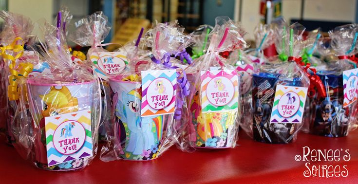 My Little Pony party favors and favor tags