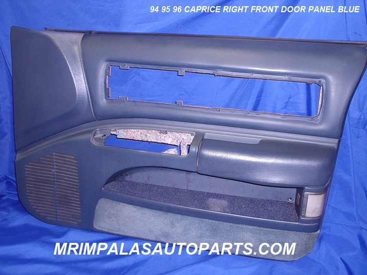 94 95 96 Caprice Door panel right front blue leather    One original used GM right front door panel from a 94 Caprice in blue leather.