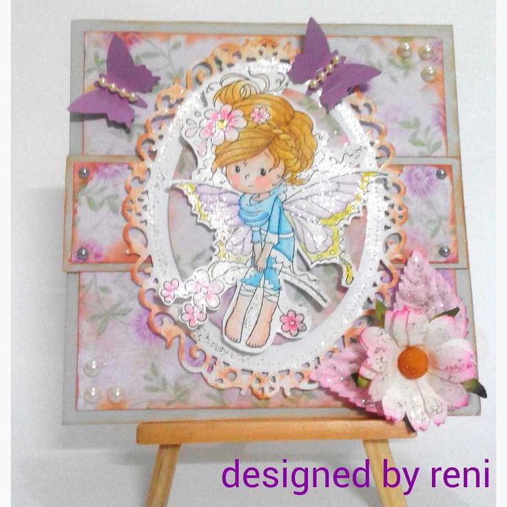 A new card #whimsystamp #distressmarker #iris #weestamp