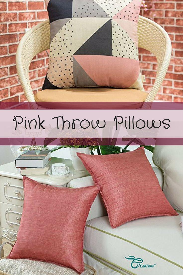 Throw Pillow Fabric Ideas : Best 25+ Pink throw pillows ideas on Pinterest Poplin fabric, Pink throws and Pink pillows
