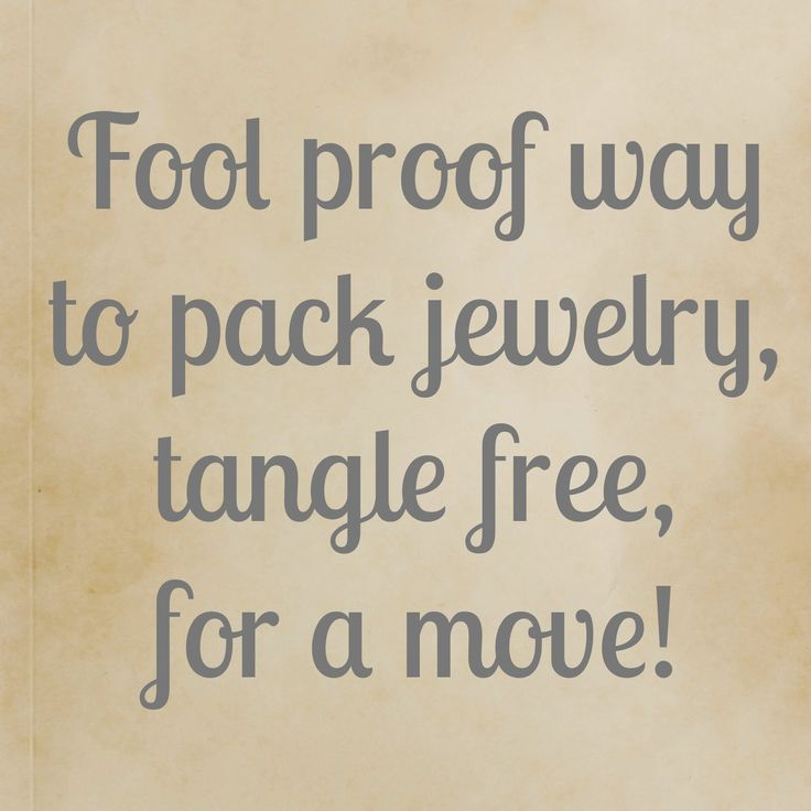 Really easy cheap idea for packing jewelry for a move for How to pack jewelry for moving