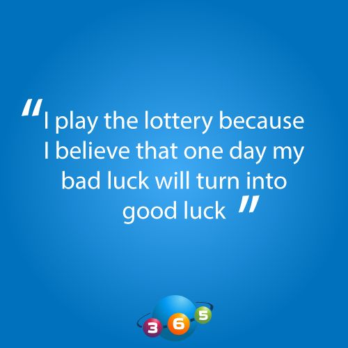 Turn your bad luck into good luck at 365lottoworld.com