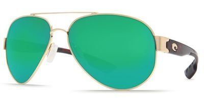 Costa Del Mar Sunglasses  South Point Glass  Frame Gold Lens Polarized Green Mirror 580 Glass -- See this great product.