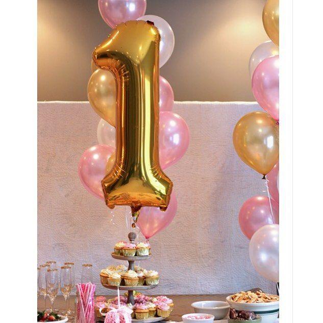 Birthday Party!  Globos Metalizados! Números y Letras Doradad y Plateadas…