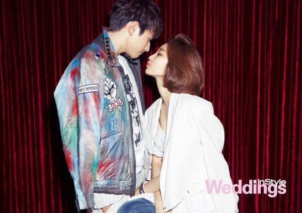 [Photo] 2AM Jinwoon and Go Jun Hee have their wedding photoshoot for 'InStyle' Magazine « WE GOT MARRIED Fan Club #wegotmarried