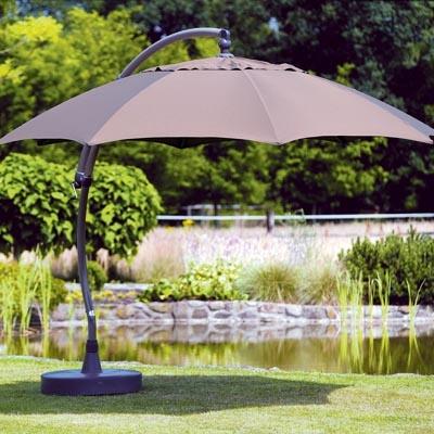 The Sun Garden 13 Ft. Octagonal Cantilever Umbrella Creates An Inviting  Atmosphere For Both Dining