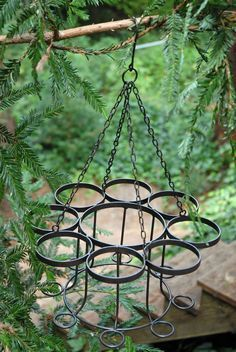 Wine Bottle Chandelier from save on crafts $25