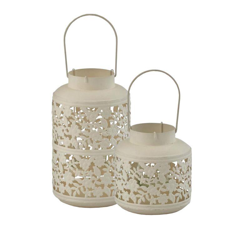 Lanterna bianca cilindrica con fiori. Allestimenti per matrimoni, wedding design 2015/2016.