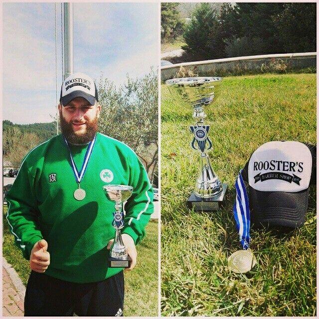 Συγχαρητήρια στον πρωταθλητή Ελλάδας 2017 Νίκο Λέων ,παλαιστή της ομάδας του Παναθηναϊκού!!Πάντα περήφανοι για σένα γίγαντα και εις ανώτερα!!! Congrats to the 2017 wrestling champion of Greece Nikos Leon, member of the Panathinaikos club!!Always proud to support you Giant !!! #nikosleon #champion2017 #proudsupporter #roostersBarbershop #barbershopathens #roosters