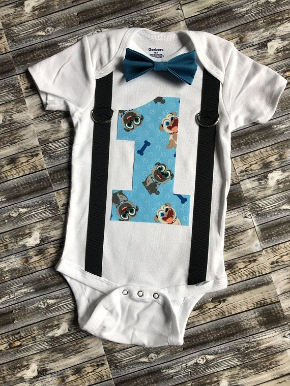 Puppy Dog Pals First Birthday Cake Smash Outfit Bingo And Rolly