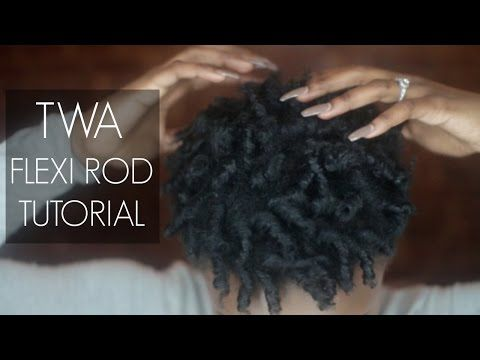 The Flexi Rod Coil-Out On Tapered Type 4 Hair