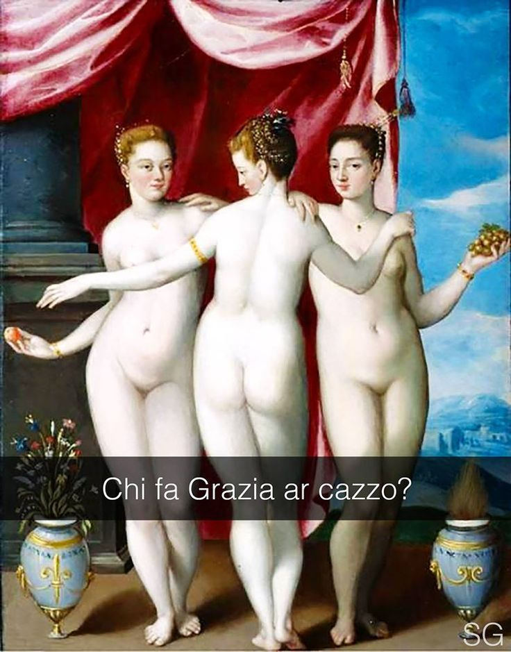 Le tre grazie - Jacopo Zucchi (1526) Stefano Guerrera #seiquadripotesseroparlare