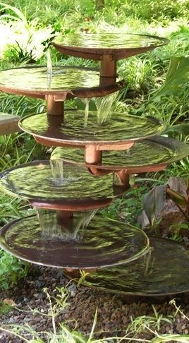 """I really like the shape of this fountain, but would give more space between levels to provide more of a sense of openness, and more emphatic """"water music""""."""
