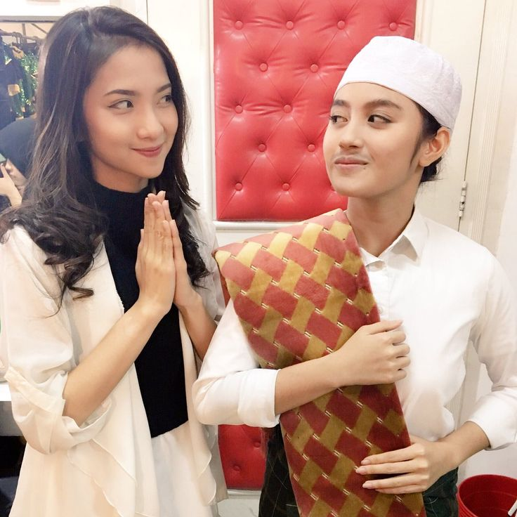 Nadse & Nabilah (in a man outfit)