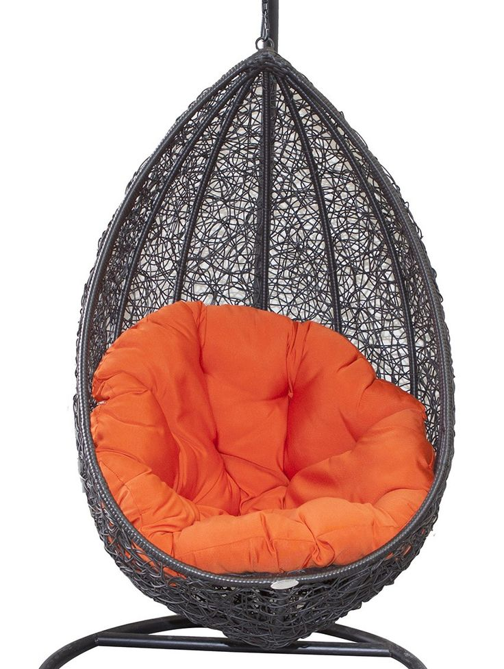 """Belle Hanging Egg Chair Black Wicker - Be the talk of the neighbourhood and turn your neighbours green with envy with one - or two! - of our super stylish Hanging Egg Chairs (also known as a Swing Chair or Pod Chair which you may have seen on """"The Block"""") on your balcony or patio. Designed to be curled up into like a warm embrace, grab a good book and imagine yourself wiling away long summer days in this stunning piece of outdoor furniture - welcome to your happy place!  These Hanging Egg…"""
