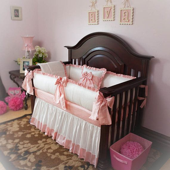 nursery bedroom sets designer custom made white pink princess 5pc crib 12721