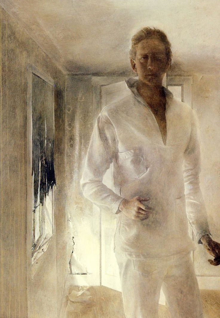 Andrew Wyeth (1917-2009) - The revenant (Self-Portrait), 1949 Tempera on panel (76.2 x 50.8 cm)