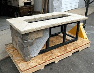 Custom rectangle fire pit kit