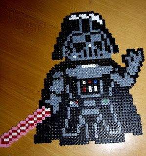 Heart Hama Beads: Darth Vader